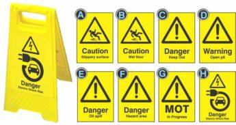 Hazard Warning Floor Signs