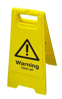 Hazard Floor Sign – Warning Open Pit