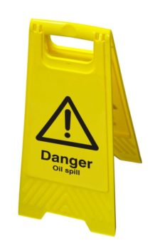 Hazard Floor Sign – Danger Oil Spill