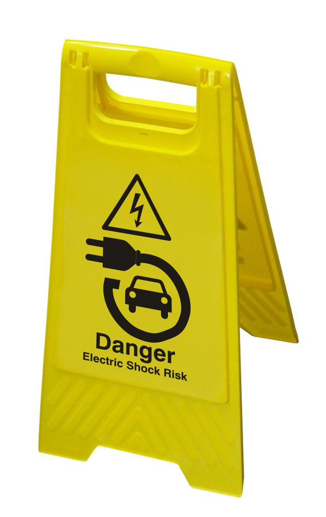Hazard Floor Sign – Danger Electric Shock Risk