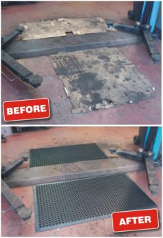 Rubber Floor Mat honeycomb – anti-slip and fatigue