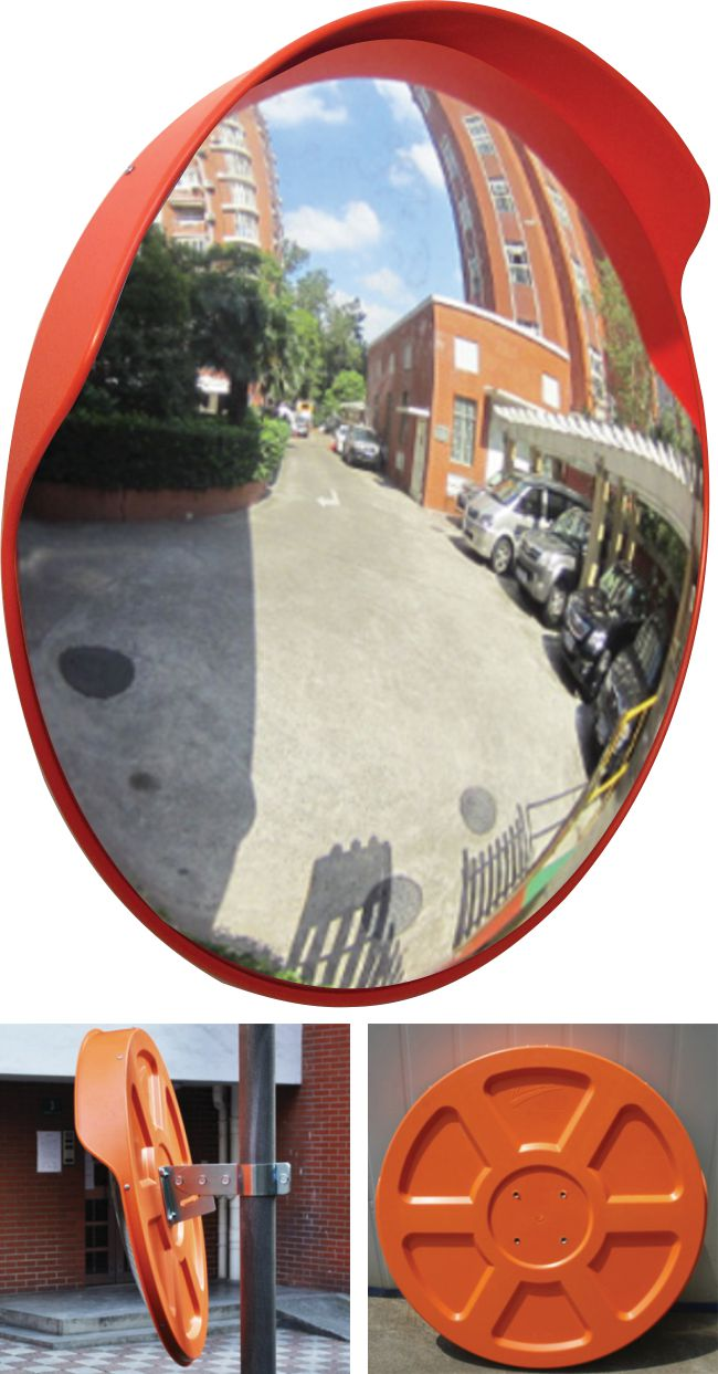 Convex Safety Mirror with Rain Hood 80cm Dia.