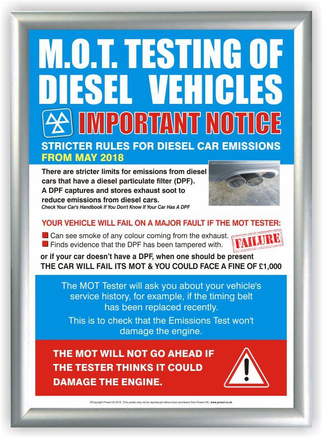 MOT Poster – Diesel Vehicle Testing Information (DTI)