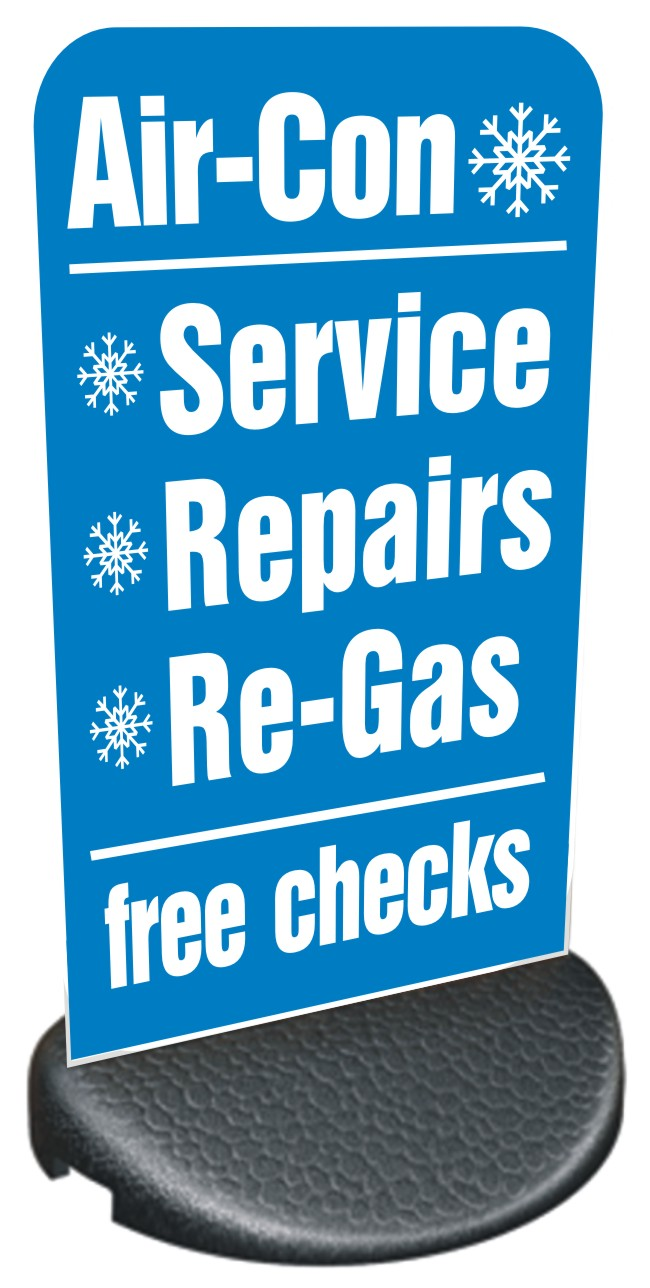 Forecourt/Pavement Sign – AIR CON, FREE CHECKS