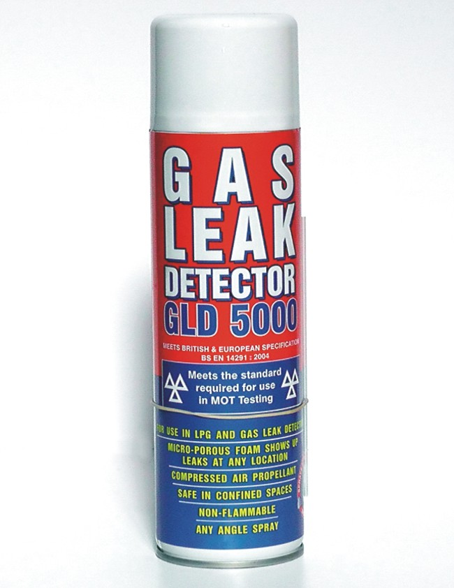 Gas Leak Detector Spray (DVSA Approved for MOT Testing)