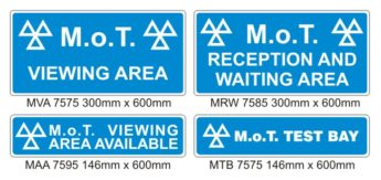 MOT Signs – Interior – 4 Sign Pack