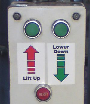Lift Direction Stickers (per pair)