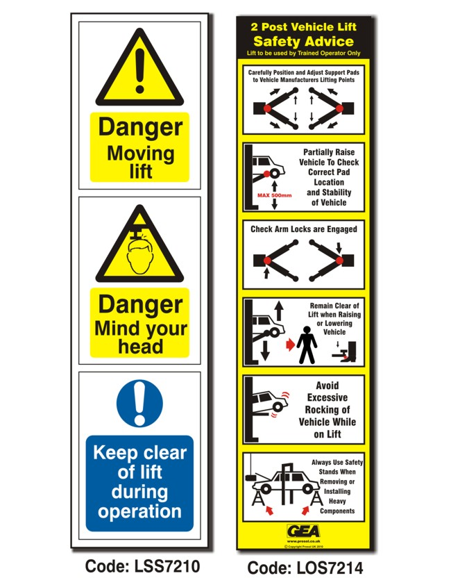 Lift Sticker Pack – 1 x Direction + 1 x Operation