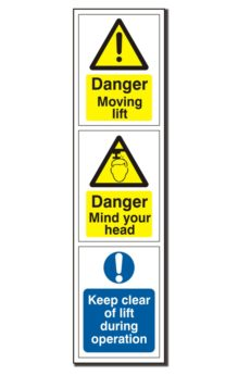 Vehicle Lift Warning Sign