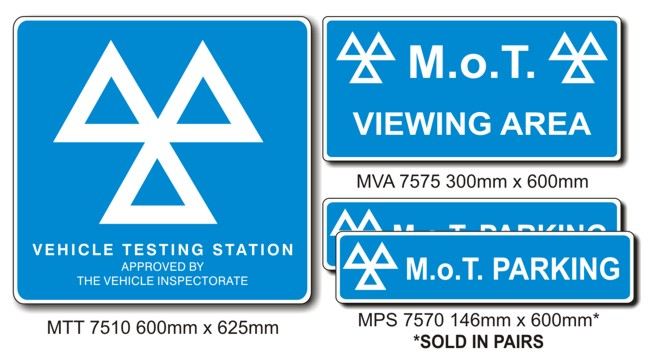 MOT Signs – Mini Pack – 4 Sign Pack