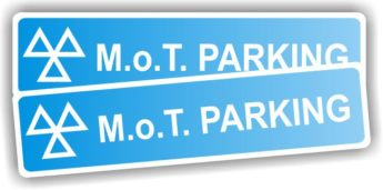 MOT Sign – MOT Parking Sign – REFLECTIVE (per pair)