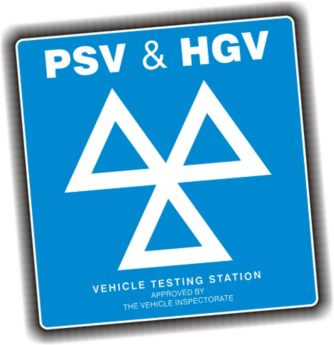 PSV and HGV – MOT 3 Triangles Sign