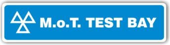 MOT Sign – Test Bay