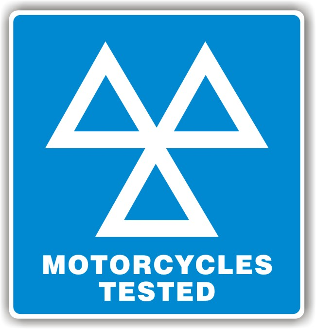 MOT Sign – 3 Triangles Motorcycles Tested Sign