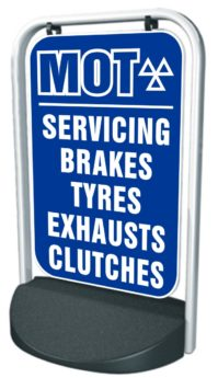 Swinger Pavement Forecourt Sign – MOT, SERV, BRAKES ETC