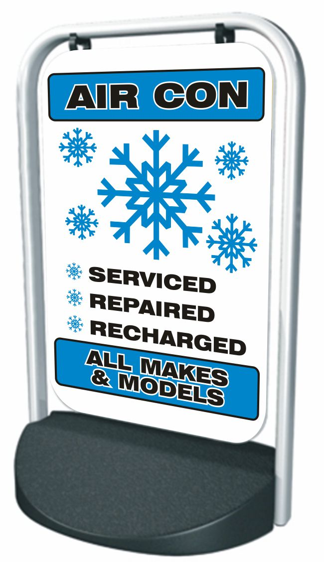 Swinger Pavement Forecourt Sign – AIR-CON, ALL MAKES