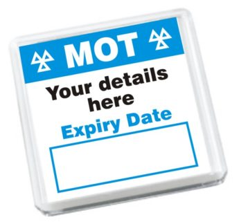 MOT Reminder Fridge Magnets (100)