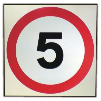 Speed Limit 5 mph Sign – REFLECTIVE