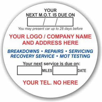 Round Reminder Stickers