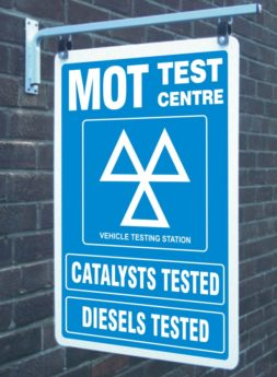 Wall Mounted Swing Sign – MOT, Catalysts & Diesels