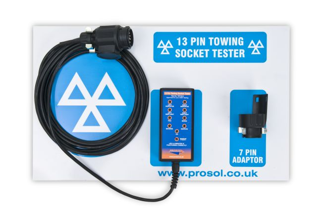 13 pin Trailer Towbar Socket Tester with Shadow Panel Board