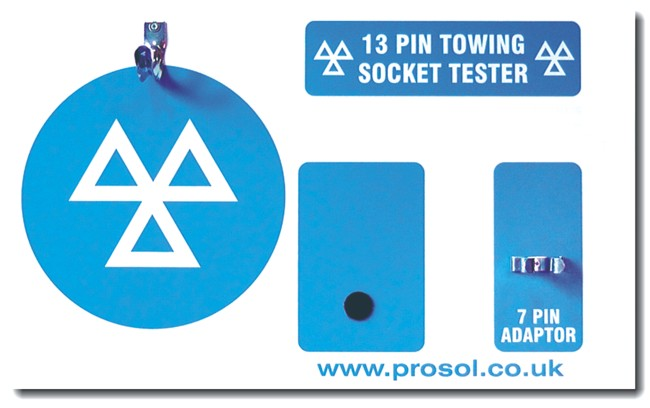 13 Pin Trailer Towbar Socket Tester SHADOW PANEL BOARD