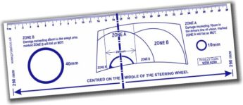 Windscreen Damage Assessment Ruler