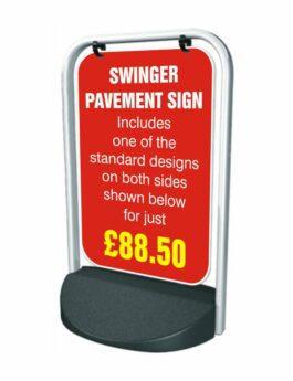 Swinger Pavement Forecourt Sign – CUSTOM DESIGN