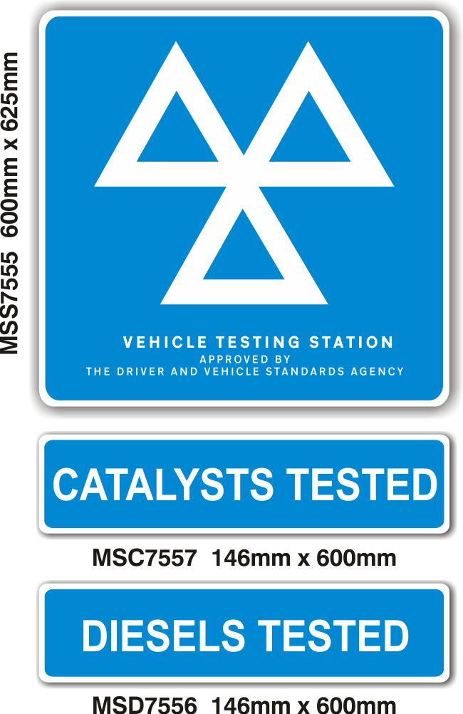 MOT Signs – HEAVY DUTY Exterior – 3 Sign Pack