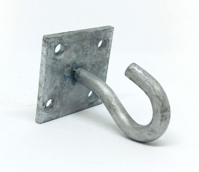 Plastic Barrier Chain Steel Hook on Mounting Plate