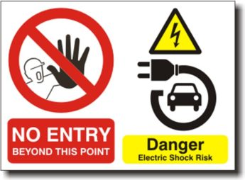 Hybrid & Electric Car Charging Point Sign