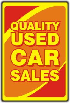 Quality Used Car Sales Sign (Design C)