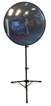 Floor Standing Convex Viewing Mirror 600mm
