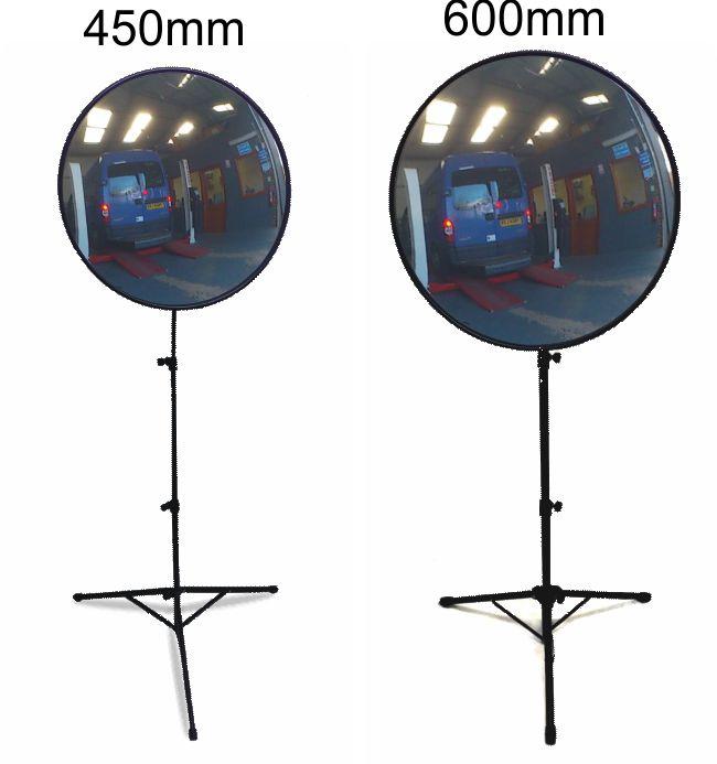 Floor Standing Convex Mirrors