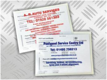 MOT Certificate Advertising Wallets