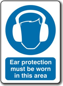 Ear Protection Must Be Worn In This Area