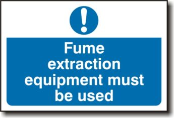 Fume Extraction Sign