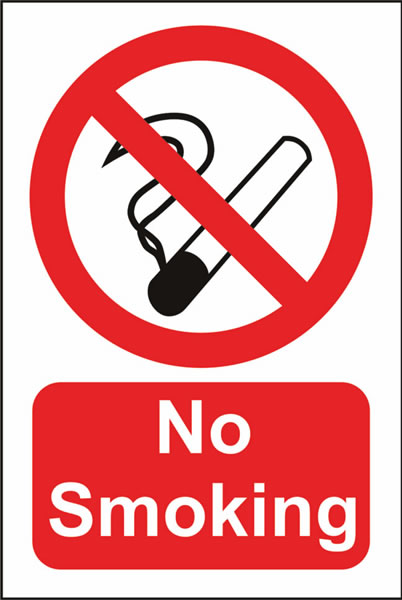 No Smoking Sign Jumbo