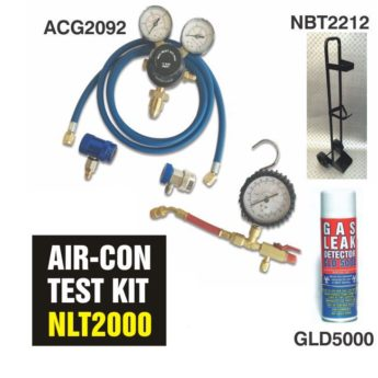 Air-Con Leak Detection Kit – using Nitrogen Gas Cylinders
