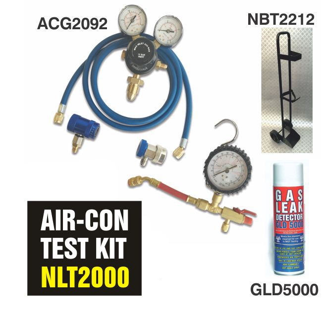 Air Con Leak Detection Kit Using Nitrogen Gas Cylinders