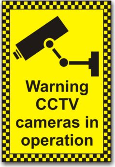 Warning CCTV Cameras In Operation Sign REFLECTIVE