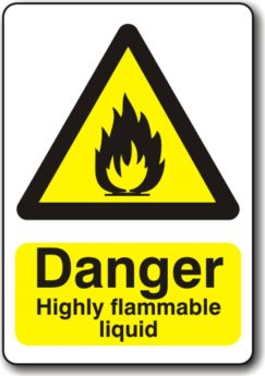Danger Highly Flammable Liquid