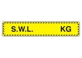 Safe Working Load Sticker – SMALL – KGS