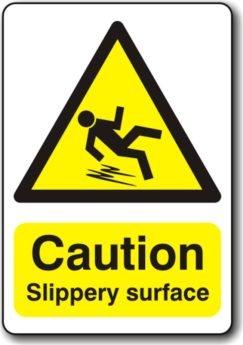 Caution Slippery Service