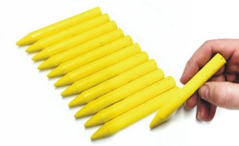 Yellow Wax Marker Crayons (Pack of 12)
