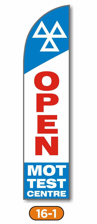 Feather Flag – Open MOT Test Centre