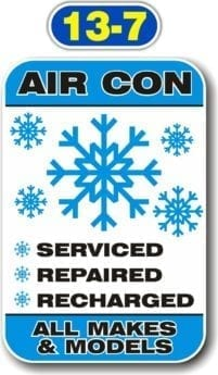 Sign Panels for Wall Mounting – Air Con, Serviced, Repaired, Recharged – All Makes & Models