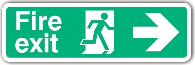 Fire Exit Right Arrow Sign