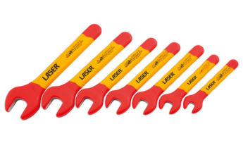 VDE Certified Insulated Open End Wrench Set 7pc