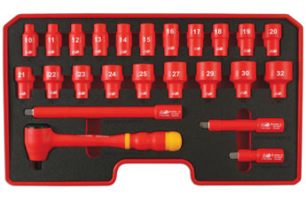 VDE Certified Insulated Socket Set ½inch drive 24pc